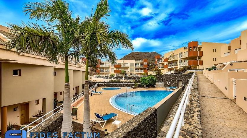 Townhouse in the complex Euro House in Playa de La Arena, Santiago del Teide, Tenerife